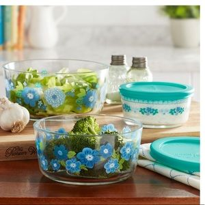 New Pioneer Woman Dazzling Dahlias 6 Pc Containers
